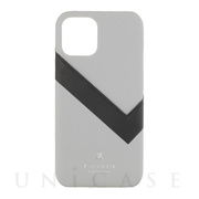 【iPhone12/12 Pro ケース】SLIM WRAP CASE SAFFIANO WRAP (Light Gray)