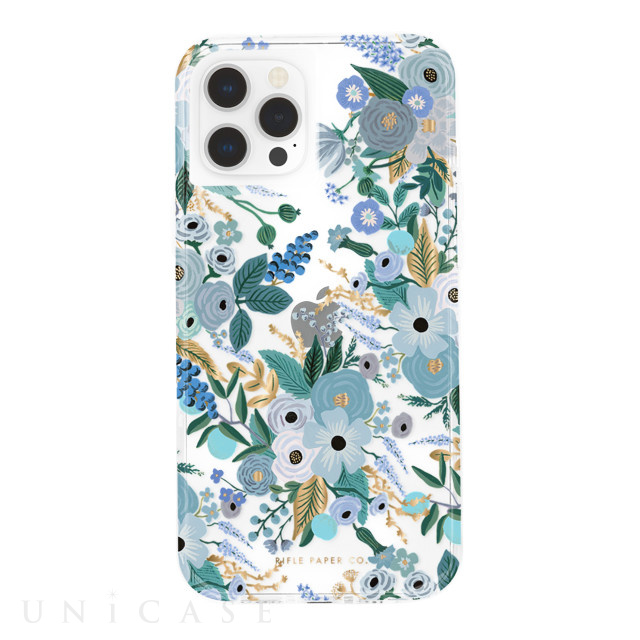 【iPhone12/12 Pro ケース】RIFLE PAPER CO. 抗菌・耐衝撃ケース (Garden Party Blue)