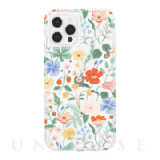 【iPhone12 Pro Max ケース】RIFLE PAPER CO. 抗菌・耐衝撃ケース (Clear Strawberry Fields)