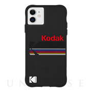 【iPhone12 mini ケース】Kodak 耐衝撃ケース (Matte Black + Shiny Black Logo)
