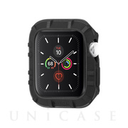 【AppleWatch SE/Series6/5/4/3/2/1(44/42mm) ケース】抗菌バンパー Protector Bumper (Black)