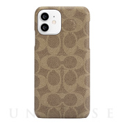 【iPhone12/12 Pro ケース】Slim Wrap Case (Signature C Khaki)