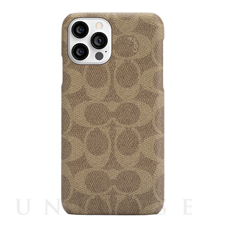 【iPhone12 Pro Max ケース】Slim Wrap Case (Signature C Khaki)