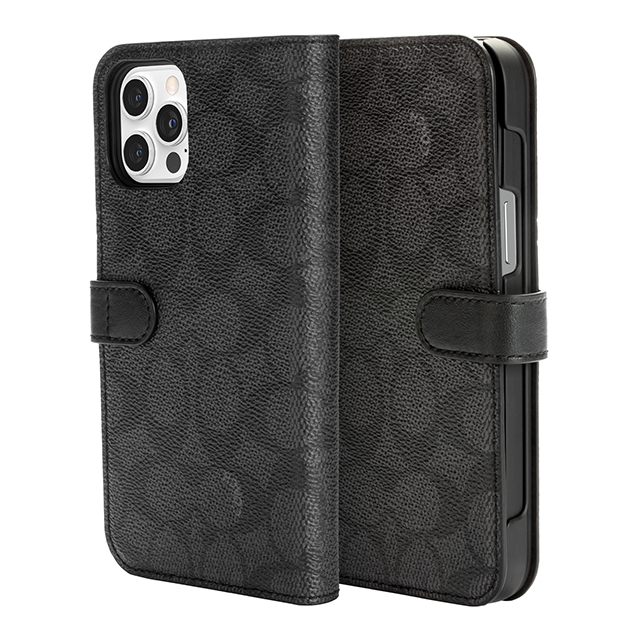 【iPhone12 Pro Max ケース】Folio Case (Signature C Black)サブ画像