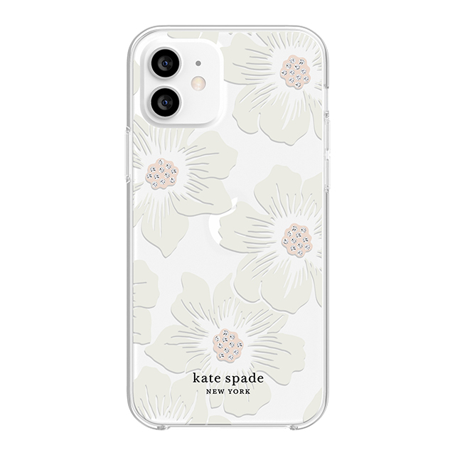 【iPhone12/12 Pro ケース】Protective Hardshell Case (Hollyhock Floral Clear/Cream with Stones)goods_nameサブ画像