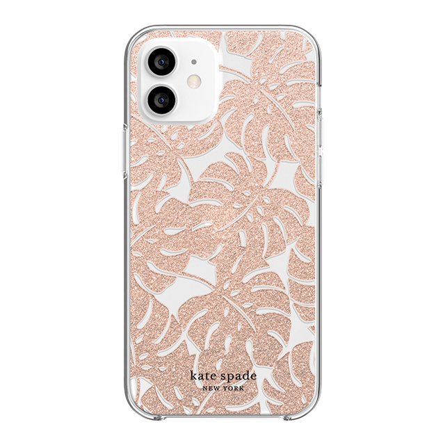 【iPhone12/12 Pro ケース】Protective Hardshell Case (Island Leaf Pink Glitter/Clear/Blush Bumper)goods_nameサブ画像