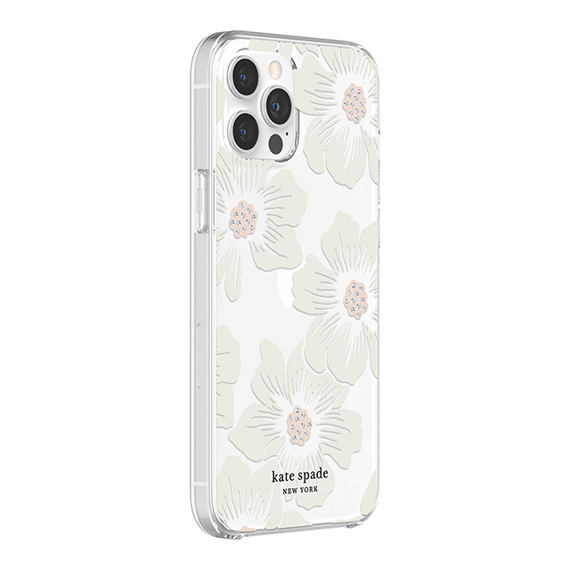 【iPhone12 Pro Max ケース】Protective Hardshell Case (Hollyhock Floral Clear/Cream with Stones)サブ画像