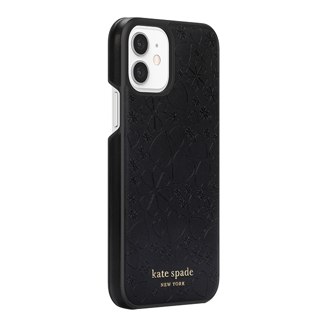 【iPhone12/12 Pro ケース】Wrap Case (Black Crumbs/Clover Hearts Printed Pattern/Gold Sticker Logo)サブ画像