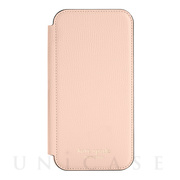 【iPhone12 Pro Max ケース】Folio Case (Pale Vellum Crumbs/Pale Vellum PC/Gold Sticker Logo)
