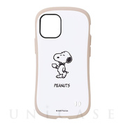 【iPhone12 mini ケース】PEANUTS iFace First Class Cafeケース (コーヒー)