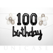 WALL DECO BALLOON for 100 BD (black)