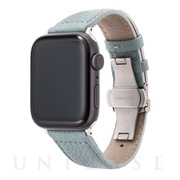 【AppleWatch SE/Series6/5/4/3/2/1(44/42mm) バンド】German Shrunken-calf Watchband (Baby Blue)