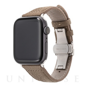 【AppleWatch SE/Series6/5/4/3/2/1(44/42mm) バンド】German Shrunken-calf Watchband (Taupe)