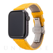 【AppleWatch SE/Series6/5/4/3/2/1(44/42mm) バンド】German Shrunken-calf Watchband (Yellow)