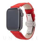 【AppleWatch SE/Series6/5/4/3/2/1(44/42mm) バンド】German Shrunken-calf Watchband (Red)