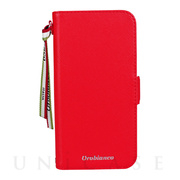 "【iPhone12/12 Pro ケース】""サフィアーノ調"" PU Leather Book Type Case (レッド)"