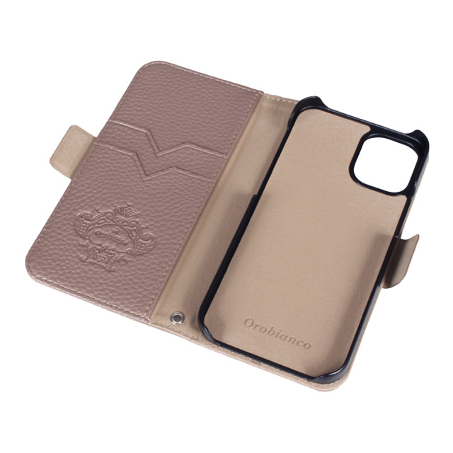 "【iPhone12 mini ケース】""シュリンク"" PU Leather Book Type Case (グレー)goods_nameサブ画像"