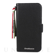 "【iPhone12/12 Pro ケース】""シュリンク"" PU Leather Book Type Case (ブラック)"