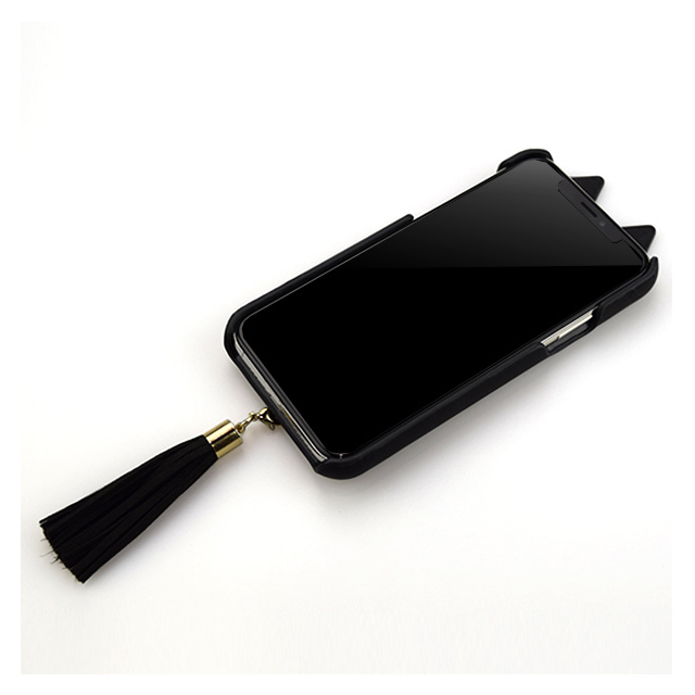 【アウトレット】【iPhone11/XR ケース】Tassel Tail Cat Case for iPhone11 (black)