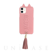 【アウトレット】【iPhone11/XR ケース】Tassel Tail Cat Case for iPhone11 (pink)