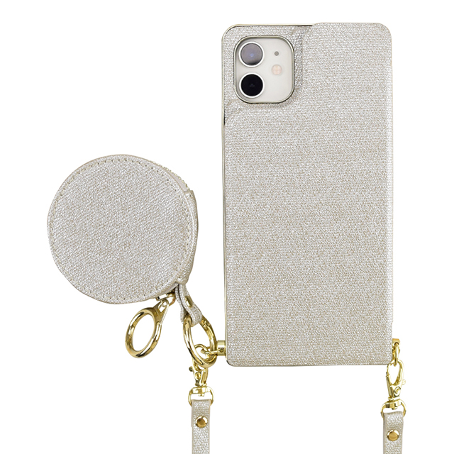 【アウトレット】【iPhone11/XR ケース】Cross Body Case Glitter Series for iPhone11 (pearl silver)サブ画像