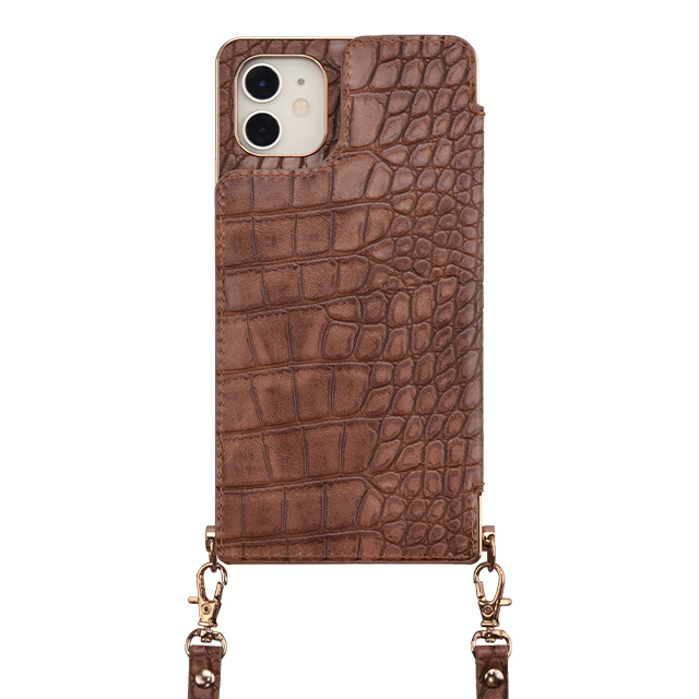 【アウトレット】【iPhone11/XR ケース】Cross Body Case Animal Series for iPhone11(crocodile)サブ画像