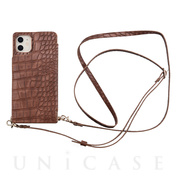 【アウトレット】【iPhone11/XR ケース】Cross Body Case Animal Series for iPhone11(crocodile)