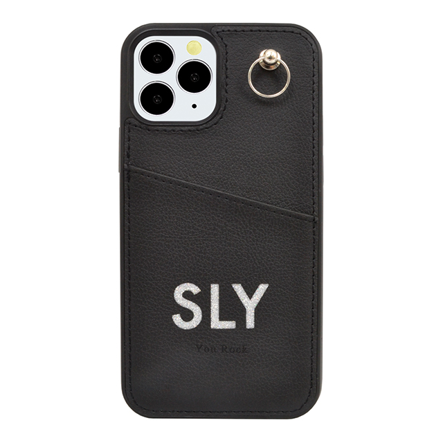 【iPhone12/12 Pro ケース】SLY Die cutting_Case (black)