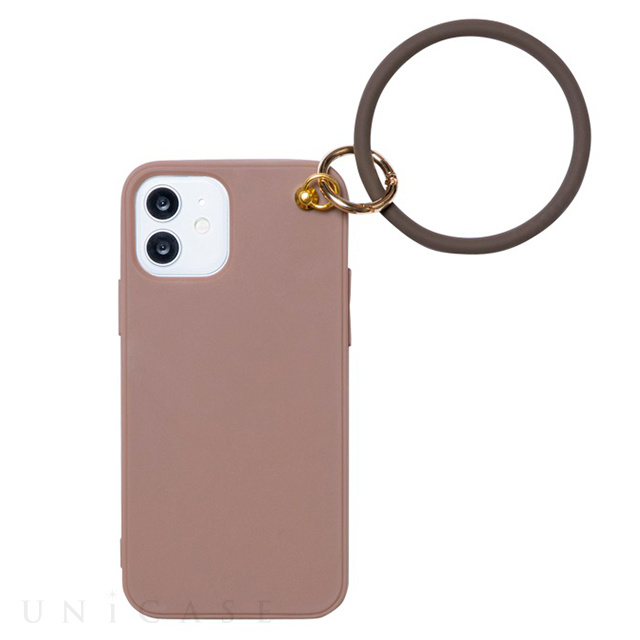 【iPhone12/12 Pro ケース】リング付き背面ケース RING CASE (BROWN)