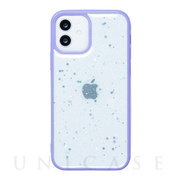 【iPhone12/12 Pro ケース】きらきら背面ケース SPARKLY (LAVENDER)