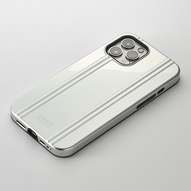 【iPhone12 Pro Max ケース】MagSafe 充電可能 ZERO HALLIBURTON Hybrid Shockproof Case for iPhone12 Pro Max(Silver)サブ画像