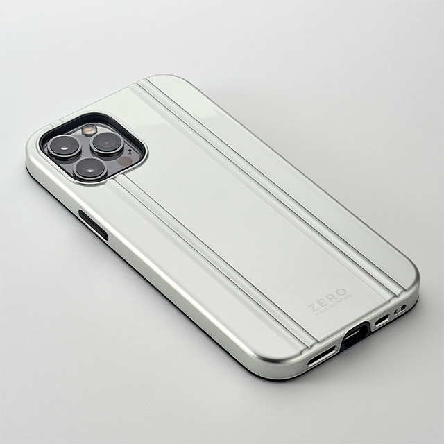【iPhone12 Pro Max ケース】MagSafe 充電可能 ZERO HALLIBURTON Hybrid Shockproof Case for iPhone12 Pro Max(Silver)