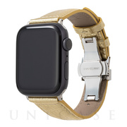 【AppleWatch SE/Series6/5/4/3/2/1(44/42mm) バンド】PikaPika Leather Watchband (Gold)