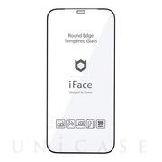 【iPhone12 Pro Max フィルム】iFace Round Edge Tempered Glass Screen Protector ラウンドエッジ強化ガラス 液晶保護シート (ブラック)