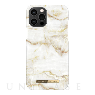 【iPhone12 Pro Max ケース】Fashion Case (Golden Pearl Marble)