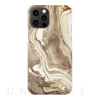 【iPhone12 Pro Max ケース】Fashion Case (Golden Sand Marble)