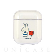 【AirPods ケース】ミッフィー miffy and tulips AirPods クリアケース (tulips)