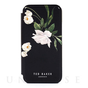 【iPhone12 Pro Max ケース】Folio Case (Elderflower Black Silver)