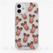 【iPhone12/12 Pro ケース】Teddy Bears Transparent