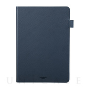 "【iPad(10.2inch)(第8/7世代) ケース】""EURO Passione"" Book PU Leather Case (Navy)"