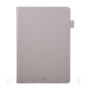 "【iPad(10.2inch)(第8/7世代) ケース】""EURO Passione"" Book PU Leather Case (Gray)"