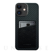 【iPhone12/12 Pro ケース】HOVERSKIN (Black Nappa Leather)