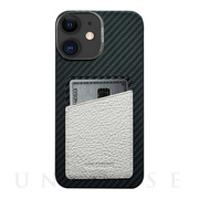 【iPhone12/12 Pro ケース】HOVERSKIN (White Nappa Leather)