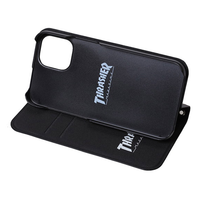 【iPhone12 mini ケース】HOME TOWN Logo PU Leather Book Type Case (BLK/BLK)サブ画像