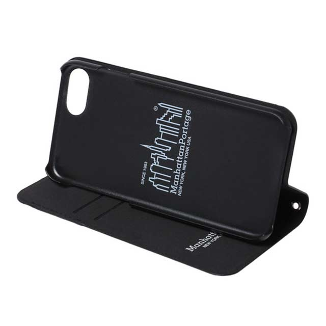 【iPhoneSE(第2世代)/8/7 ケース】PU Leather Book Type Case (BLACK)サブ画像
