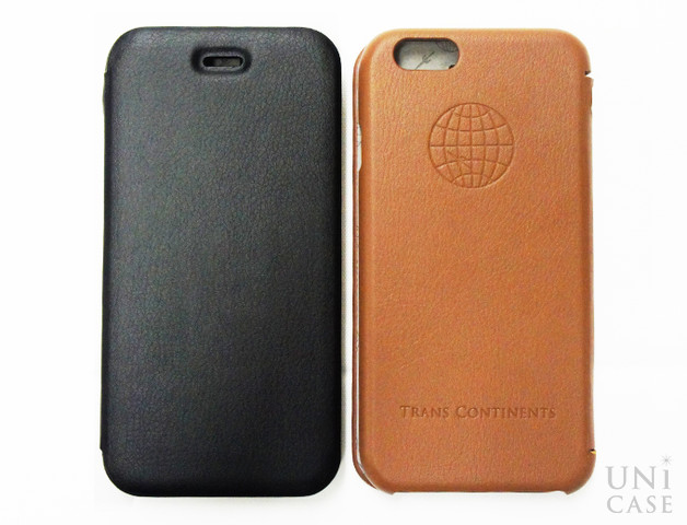 【iPhone6s/6 ケース】TRANS CONTINENTS LEATHER CASE for iPhone6s/6 (Brown)の表面と背面