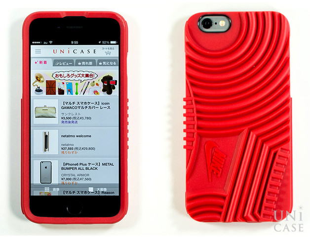 【iPhone6s/6 ケース】NIKE AIR FORCE 1 PHONE CASE (RED)の装着