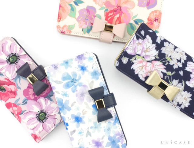 【iPhone8/7/6s/6 ケース】Flower Series wallet case for iPhone7/6s/6 | iPhoneケースは UNiCASE