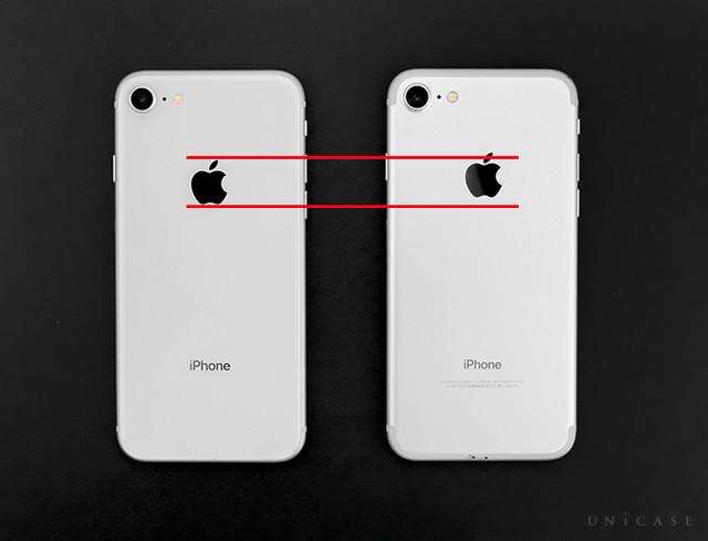 df4058eb3a よく見比べるとAppleロゴの林檎の位置が若干異なっています! iPhone8は少し下に移動しているようです。 下のロゴ部分もシンプルになりました。