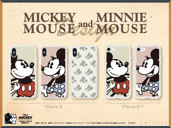 Disney Character/iPhone CASE for iPhoneX、iPhone8/7